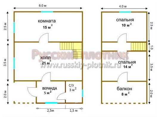 Проект БР-15 (дом 6х8)