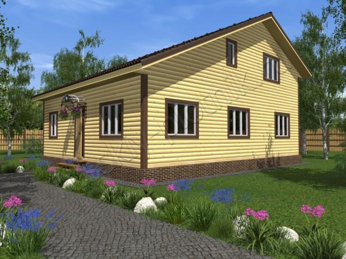 Дом из бруса 9х11 (47БР)