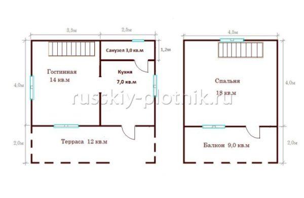 Проект БР-24 (дом 6х6)