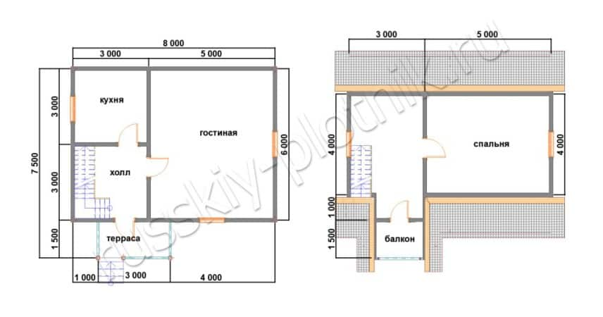 Закончили строительство дома 6х8 из бруса