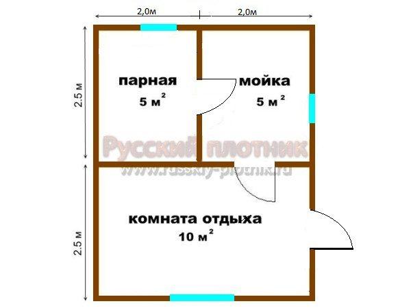 Проект Б-03 (баня 4х5)