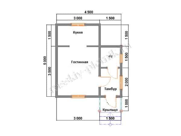Построен одноэтажный дом в республике Карелия