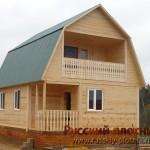 Строительство дома из бруса 6х8 (БР15)