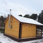 Построили баню 6х6 в Щелковском  районе Московской области