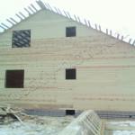Построен дом 9х11 под усадку
