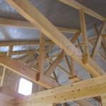 Построили дом из бруса 8х8 в Орловской области