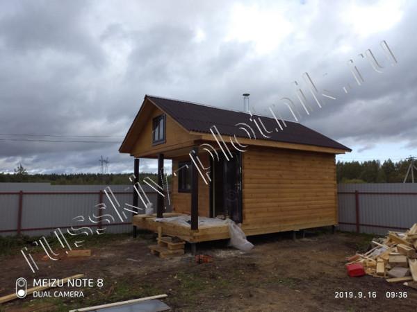 Построили дом и баню в Московской области
