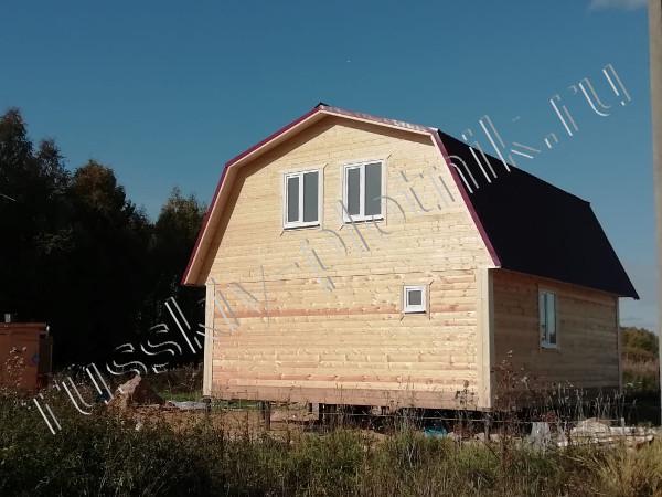 Построили дом 7х8 с мансардным этажом