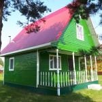 Окрашивание дома из бруса внутри и снаружи