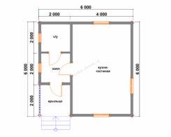 Проект БР-58 (дом 6х6)