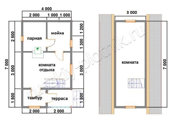 Дом из бруса 8х11 (56БР)