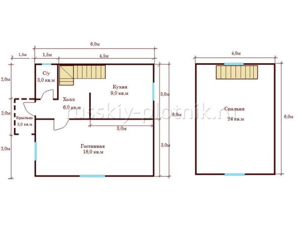 Построен дом с террасой в Рязанской области