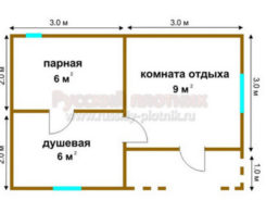 Проект Б-10 (баня 4х6)