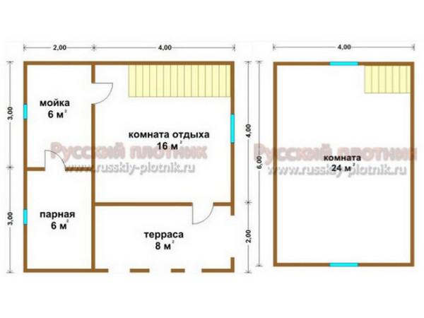 Построили баню 6х6 в Московской области