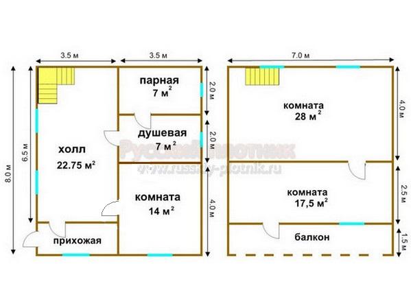 Проект БР-30 (дом 7х8)