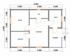Проект БР-59 (дом 6х8)