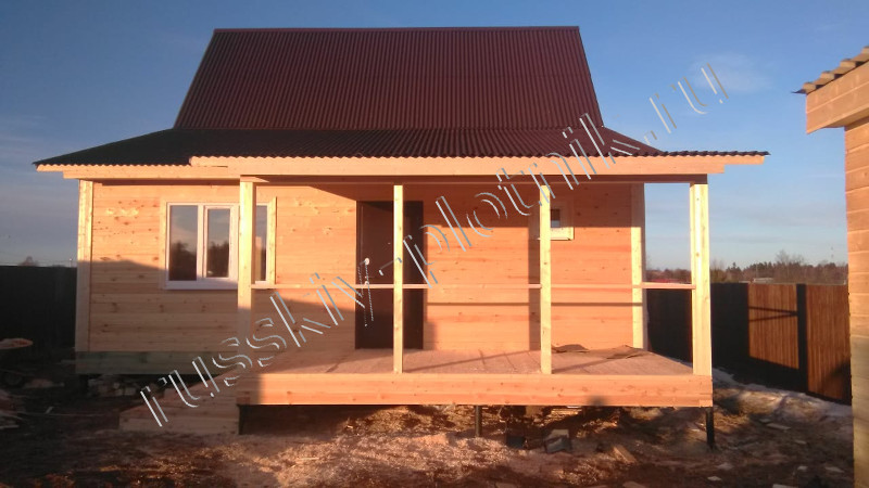 Построен дом 8х9 в Московской области