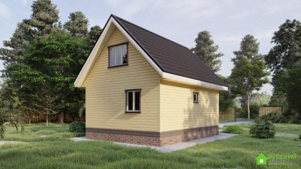 ПроектБР-75 (дом 6х8) с угловой террасой
