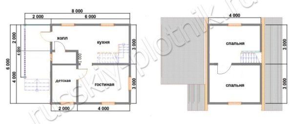 Проект БР-18 (дом 6х6)