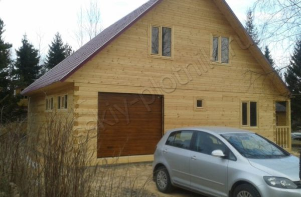 Проект БР-42 (дом 9х9 с гаражом)