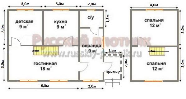 Проект БР-27 (дом 6х8)