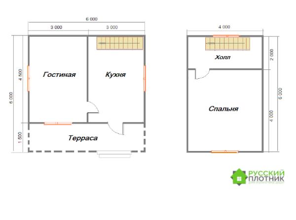 Проект БР-33 (дом 6х6)