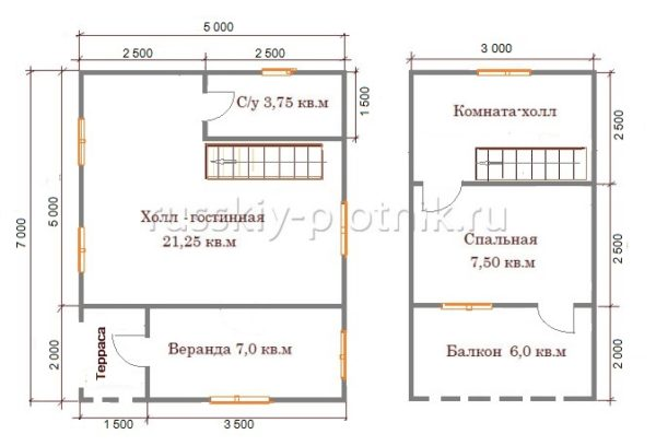 Проект БР-36 (дом 5х7)