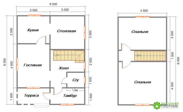 Проект БР-40 (дом 6х8)