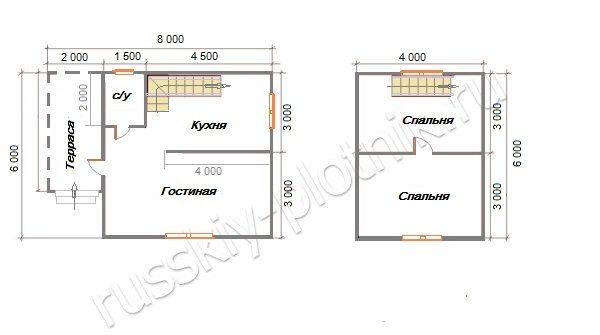 Проект БР-43 (дом 6х8)