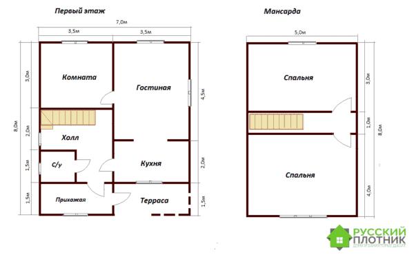 Проект БР-45 (дом 7х8)