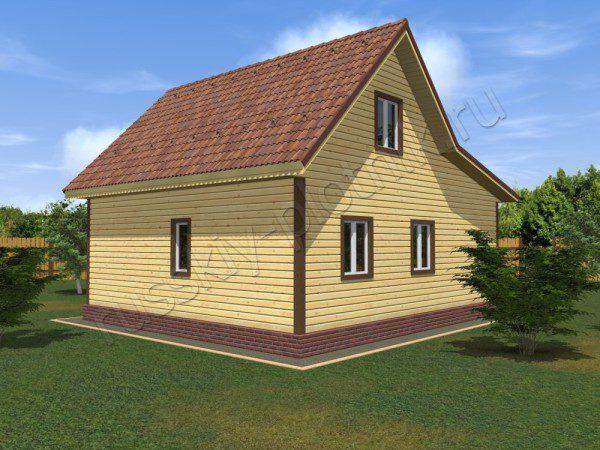 Проект БР-04 (дом 9х8)