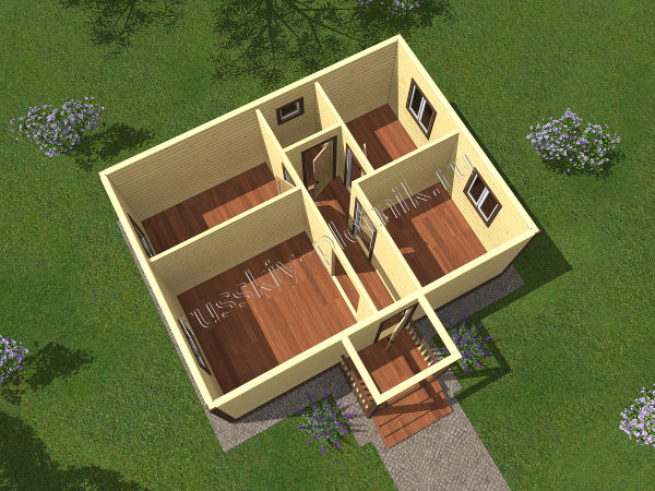 Проект БР-60 (дом 6х8)