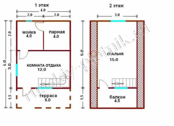 Проект Б-12 (баня 4х6,5)