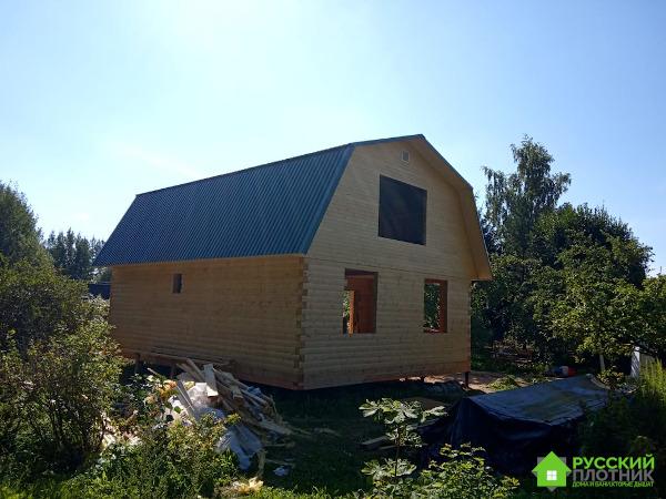 Построили дом 7х9 c мансардным этажом