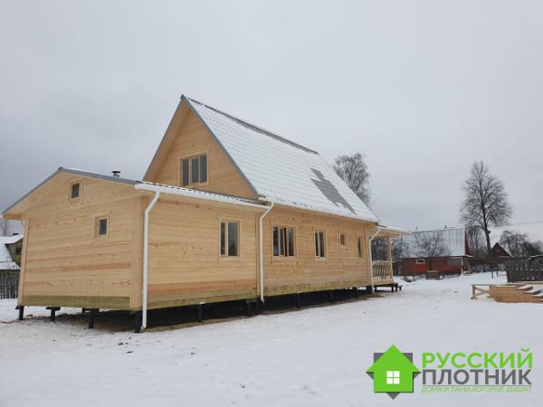 Построили дом-баню 6х9 в Ленинградской области