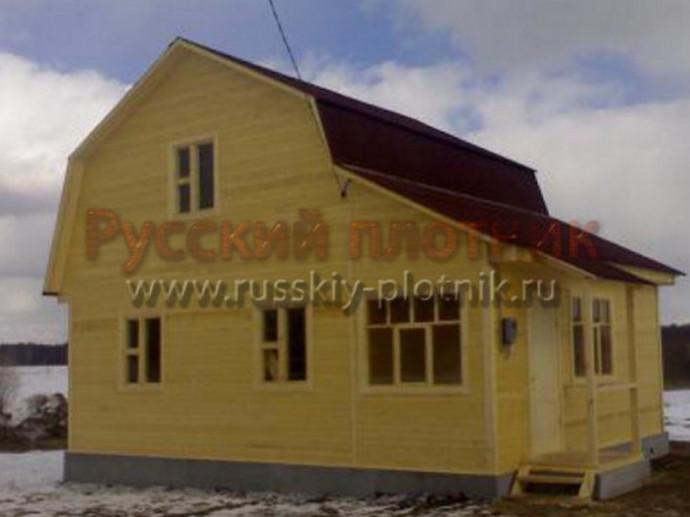 Дом из бруса 6х8 (27БР)