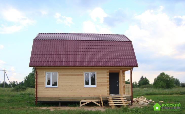 Построили дом 6х8 в Вологодской области