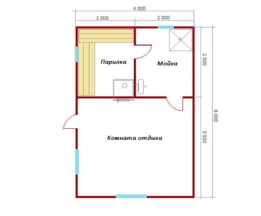 Построили баню 4х6 и беседку в Республике Коми