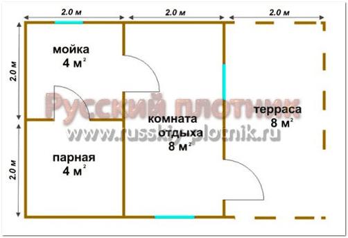 Баня из профилированного бруса в Мурманской области