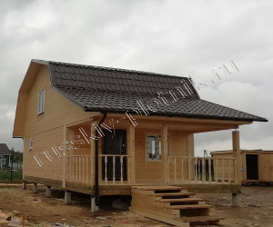 Построили баню 5х8 в Ленинградской области
