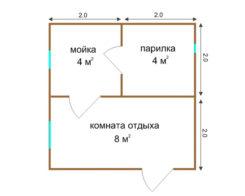 Проект Б-04 (баня 4х3)