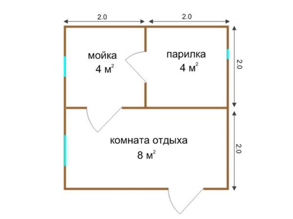 Проект Б-04 (баня 4х4)