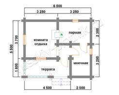 Проект БО-6 (баня 6,5х5,5)