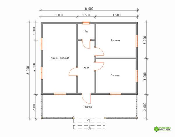 ПроектБР-67 (дом 8х8)