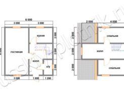 Дом из бруса 6х6 (22БР)