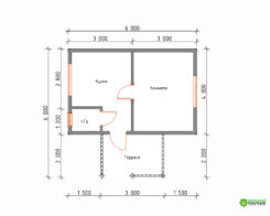 Проект БР-70 (дом 6х6)