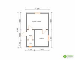 ПроектБР-72 (дом 4х6)