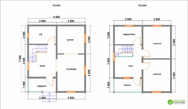 Проект БР-50 (дом 6х7)