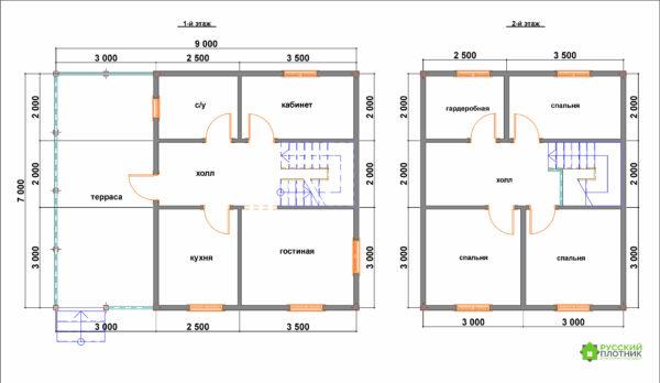 Проект БР-52 (дом 7х9)