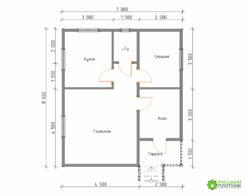ПроектБР-78 (дом 7х8)